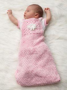 Granny Motif Baby Sack | Yarn | Free Knitting Patterns | Crochet Patterns | Yarnspirations