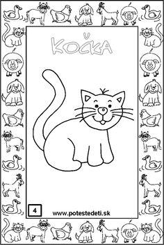 domaci-zviratka-pd-04-kocka Teaching, Comics, How To Make, Animals, Art, Animales, Animaux, Comic Book, Kunst