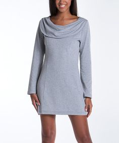 This Ash Bellflower Cowl Neck Dress is perfect! #zulilyfinds…would be cute with leggings and boots