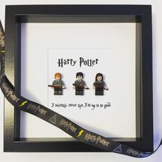 Awesome Harry Potter Lego mini-figure frame. Featuring Harry, Ron & Hermione. Any quote printed. I solemnly swear that Im up to no good . Mischief Managed. Always. Until the very end. Can be personalised. Comes tied with Harry Potter ribbon and printed gift tag. Any questions please send me a message :)