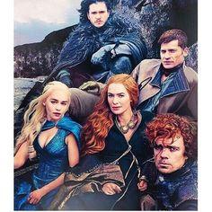 Squad on point   #gameofthrones #gameofthrones_feed #lenaheadey #cerseilannister #peterdinklage #tyrion #nikolajcosterwaldau #jaimelannister #jonsnow #kitharington #emiliaclarke #daenerys #daenerystargaryen