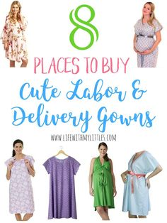 Did you know you don't have to wear the gross hospital gown when you deliver your baby? Here are 8 places to buy cute labor and delivery gowns so you can look and feel your best during childbirth!