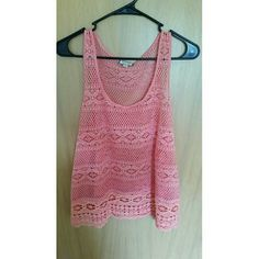 Nwot coral eyelet  summer tank Super cute coral tank, great for summer time, has a see througb eyelet type design New with out tags, has never been washed or worn No trades  Most offers will be considered  Happy poshing! Eyeshadow Tops Tank Tops