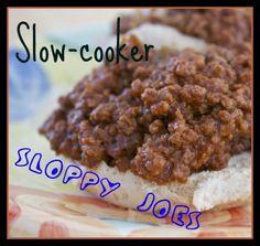 Slow Cooker Sloppy Joes #slowcooker #beef #maindish