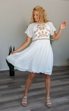The Angel -White – Mountain Aire Boutique White Midi Dress, Flutter Sleeve, Boutique Clothing, Mountain, Angel, Fabric, Sleeves, How To Wear, Shopping