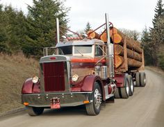 Bilderesultat for 1948 peterbilt logging trucks Cool Trucks, Big Trucks, Tires Online, Big Tractors, Logging Equipment, Train Truck, Custom Big Rigs, Classic Chevy Trucks, Peterbilt Trucks