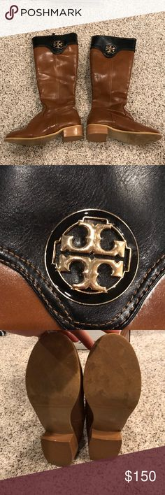 Tory burch boots Gently used Tory Burch boots Tory Burch Shoes