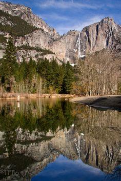 Upper Yosemite Falls Reflection