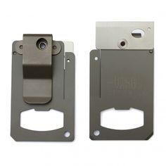 Titanium Swing Blade Tool - Clip | Wallet Sized Razor Blade Tool
