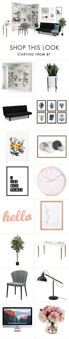 """""""office make over mock up"""" by mylilacwine ❤ liked on Polyvore featuring interior, interiors, interior design, home, home decor, interior decorating, Threshold, Art Addiction and Tom Dixon"""
