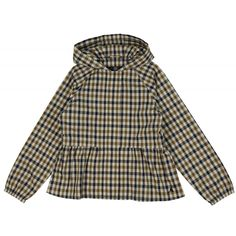 Girl's Checked Raincoat with Ruched Waist / Free UK Delivery & Returns on all Orders