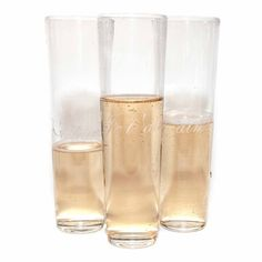 Je t'aime Champagne Flutes - Stemless. www.acmepartybox.com  **INLOVE**