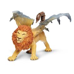This is a Manticore Mythical Realms Figure from Safari Ltd. Safari is well known for their realistic animal figures, but they also do a great job in the realm of fantasy figures. So cool. The Manticor