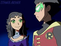 Nighstar and Damian by TitanerRusher THIS.MUST.HAPPEN.