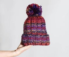 Sunset Beanie | An easy knit beanie in an array of delightful colors.