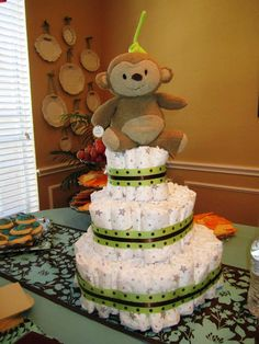 Baby Shower Diaper Cake how-to!