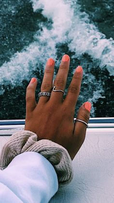 31 most eye catching different color coffin nails for prom and wedding 00017 Cute Nails, Pretty Nails, Coffin Nails, Acrylic Nails, Acrylics, Hair And Nails, My Nails, Accesorios Casual, Cute Rings