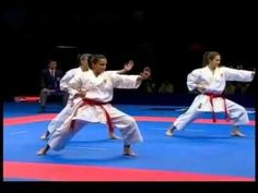 incredible advanced karate kata. their moves are so sharp and strong!