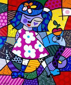 Romero Britto est un artiste brésilien qui a su éveillé l'inspiration de mes élèves avec brio ... Les Petits comme les Moyens et les Grands...