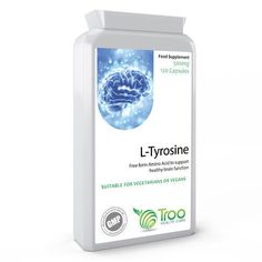 L-Tyrosine 120 Capsules support healthy and normal mind performance V Shape Face, L Tyrosine, 5 Htp, Amino Acid Supplements, Fish Oil, Amino Acids, Vitamins And Minerals, Whitening, Bottle