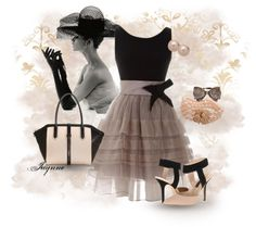 """""""'Happiness is being a Girlie Girl'!"""" by rjaynne on Polyvore #polyvore #dress #mauve #taupe #flesh #peachheels #heels #fashion"""