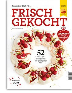 Frisch gekocht Magazin, Ausgabe Dezember 2018 Billa, December, Cooking, Recipies