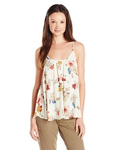 ONeill Juniors Hayden Floral Woven Tank Winter WhiteWinter White Medium >>> Read more reviews of the product by visiting the link on the image.Note:It is affiliate link to Amazon.