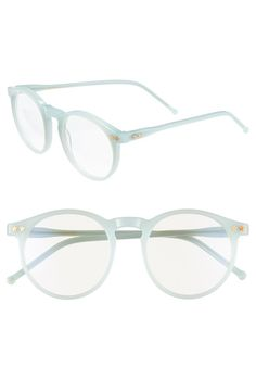 Wildfox 'Steff' 54mm Optical Glasses mint green