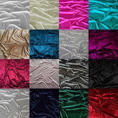 "Premium Crushed Velvet Fabric Craft Dress Stretch Material 150cm 59"" Width in Crafts, Fabric | eBay"