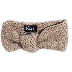 Kiss by Fiona Bennett Knit Turban Headband Lili ($148) ❤ liked on Polyvore featuring accessories and knit turban