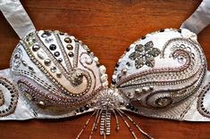Perfectly Beautiful Belly Dance Bra beaded sequined by PoisonBabe,