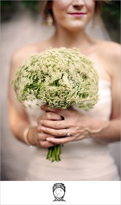 Queen Anne's Lace bouquet but more white and less green