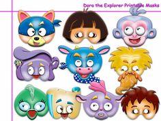 Unique Dora the Explorer Printable Masks by AmazingPartyShop