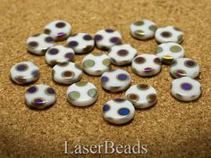 White Glass Beads 12mm Czech Pressed Opaque White by LaserBeads, $2.45