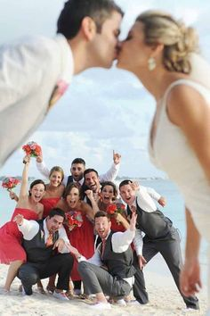 original wedding pictures to inspire! - - cool romantic wedding pictures kiss-before-the-friends original wedding pictures to inspire! - - cool romantic wedding pictures kiss-before-the-friends - Don't forget the groom! Get a photo of his wedding band too Wedding Group Photos, Wedding Picture Poses, Funny Wedding Photos, Beach Wedding Photos, Wedding Photography Poses, Wedding Poses, Wedding Photoshoot, Wedding Pictures, Photography Jobs