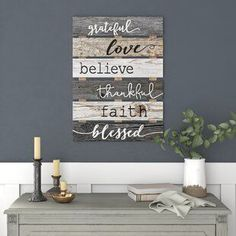 Best farmhouse wall decorations and rustic wall decor you will love. We absolutely love country themed wall decorations including farmhouse wall art, canvas art, mirrors, and more. Letter Wall Decor, Fish Wall Decor, Rustic Wall Decor, Rustic Walls, Frames On Wall, Wall Décor, Wood Wall, Spa Bathroom Decor, White Shiplap Wall