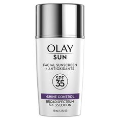 Olay Sun Face Sunscreen Serum And Makeup Primer - SPF 35 - fl oz - List of the best skin care Oil Of Olaz, Loción Facial, Facial Care, Sephora, Limpieza Natural, Facial Sunscreen, Protector Solar, Best Sunscreens, Makeup Primer
