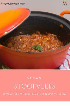 Vegan stoofvlees, ja echt het kan! En het is heerlijk Vegan Vegetarian, Vegetarian Recipes, Jack Fruit, Vegan Baby, Oven Dishes, Vegans, Stew, Avocado, Curry