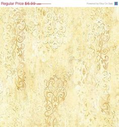 ON SALE Distressed Plaster Wallpaper - Ironwork, Textural Design, Old World, Aged, Faded, Antiqued - By The Yard - AH4732 on Etsy, $6.29