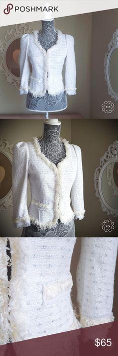 Anthropologie white blazer New Anthropologie white/cream blazer Anthropologie Jackets & Coats Blazers