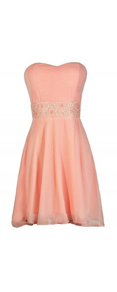 Playing Our Song Strapless Dress in Pink  www.lilyboutique.com