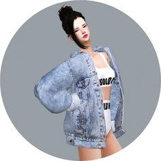 SIMS4 Marigold: ACC_Vintage Denim Jacket • Sims 4 Downloads