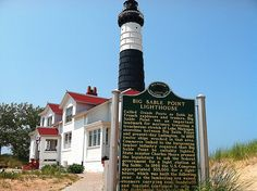 The Big Sable Point Lighthouse at Ludington State Park. Ludington State Park, Lake Michigan, Present Day, State Parks, Lighthouse, Explore, Big, Travel, Bell Rock Lighthouse