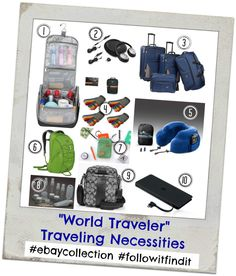 What travel necessities do you make sure to bring along when you travel? Have a trip planned soon? Check out my list of traveling essentials #ebaycollection