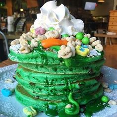 Thanking our lucky charms today for 5️⃣0️⃣0️⃣ POSTS!!! Happy St. Patrick's day to all of our lovely followers- Irish we could celebrate with all of you today☘️ #stacked #spoonfairfield (: @brownstone_pancake_factory ) Irish Luck, Luck Of The Irish, St Pattys, St Patricks Day, Pancake Factory, Rainbows, Pancakes, Charms, Pancake