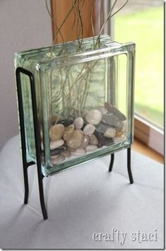 This is cute and cheap to make... I used shells in mine