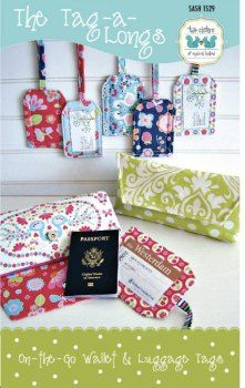 The Tag-a-Longs, On the go Wallet and luggage Tags, easy to make, Paper patterns