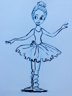 Ballet Girl sketch. By Yenthe Joline.