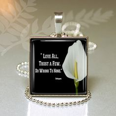 Shakespeare Inspirational Square Glass Pendant by Ladydecoupage, $13.00 Square Tray, Shakespeare, Glass Pendants, Clear Glass, Perfume Bottles, Inspirational, Unique Jewelry, Handmade Gifts, Vintage
