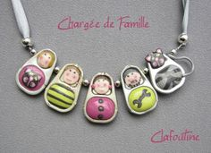 Darling little people and critter charms, pendants, brooches made from polymer clay and soda tabs!